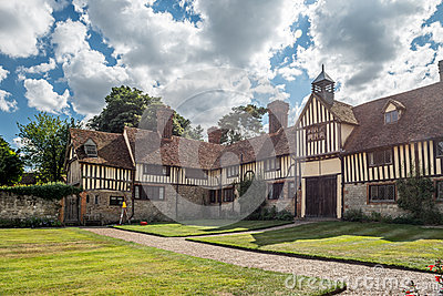 National Trust Ightham Mote -medieval manor house Editorial Photo
