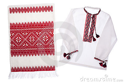 National Ukrainian symbol handmade towel and shirt