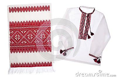 National Ukrainian symbol handmade towel and shirt