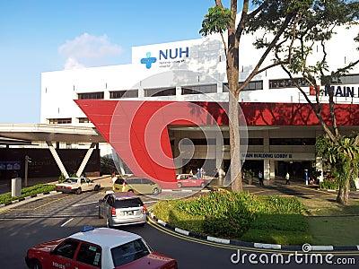National University Hospital building Editorial Stock Photo