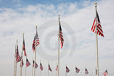 National US flags