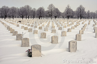 National WW2 Cemetery Editorial Image