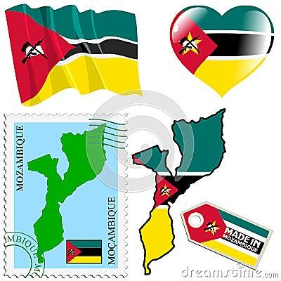 Nationale Farben von Mosambik