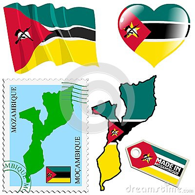 Nationale kleuren van Mozambique