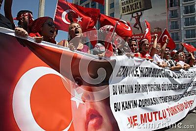 Nationalist Turkish Demonsration Editorial Stock Photo