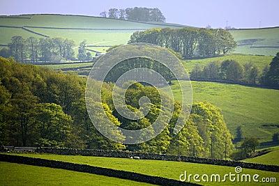 Nationalpark Höchstbezirkes des England-Derbyshire