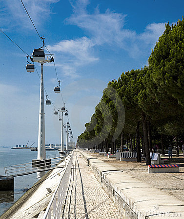 Nations park cable ferries, Lisbon Portugal
