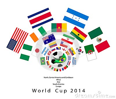 The 32 Nations in 2014 World Cup Editorial Photography