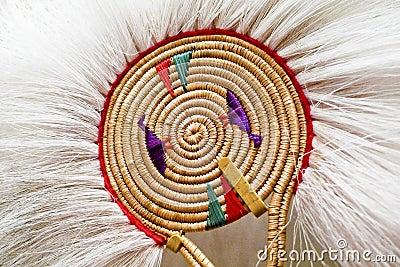 Native Alaskan dancing fan