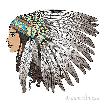 Free Native American Girl Royalty Free Stock Photography - 50175557