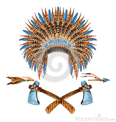 Free Native American Headdresses Royalty Free Stock Photos - 67896478