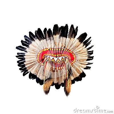 Free Native American Indian Chief Headdress Royalty Free Stock Photos - 30770808