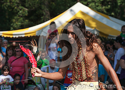 Native American Indian Festival Tribal Dancing Editorial Stock Photo