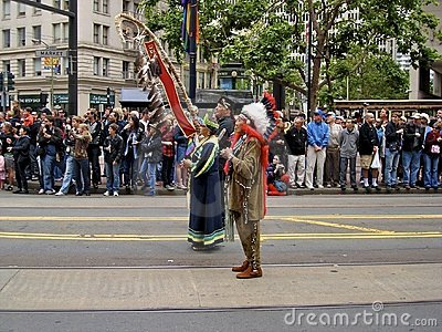 Native American Indians At Gay Pride San Francisco Editorial Photography