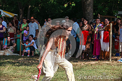 Native American Male Indian Tribal Dancing Editorial Image