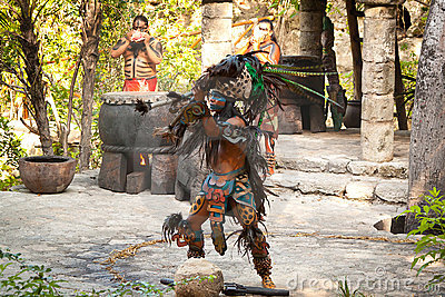 Native american Mayan dance Editorial Stock Photo