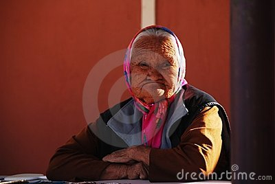 Native American old woman Editorial Image