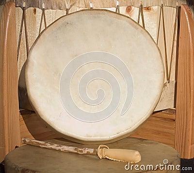 Native American Shaman PowWow hand drum and beater