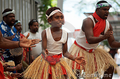 Native Australian dancers Editorial Stock Photo