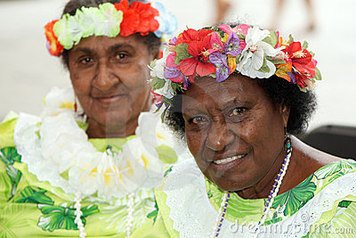 Native Australian women (Torres Strait Islands) Editorial Stock Photo