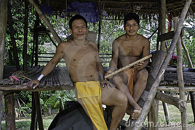 Native Embera Men, Panama Editorial Image