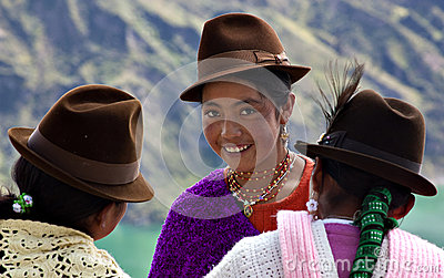 Native girls in Ecuador Editorial Stock Image