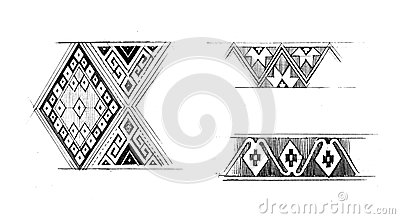 Native graphic pattern hand draw illustration