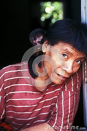 Native indian Awa Guaja of Brazil Editorial Photography