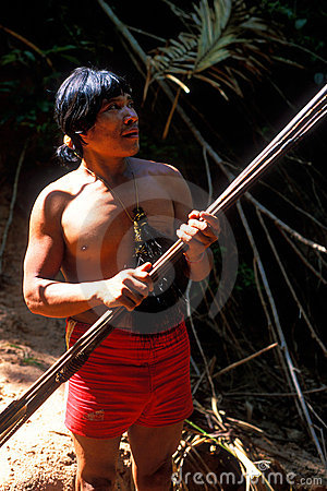 Free Native Indian Awa Guaja Of Brazil Stock Photography - 11712602