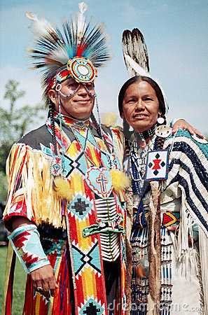 Native Indian couple Editorial Stock Photo