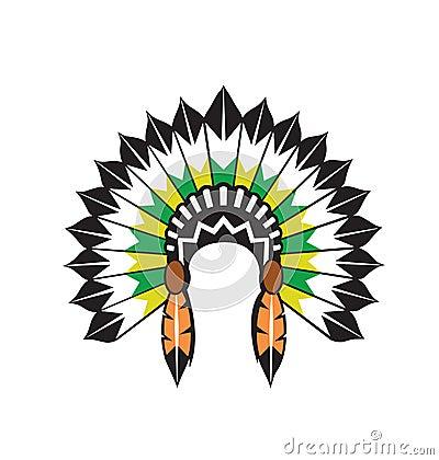 Free Native Indian Headdress Vector Stock Photos - 8992383
