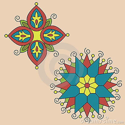 Native Indian Ornament, Mandala. Stock Image - Image: 15420881