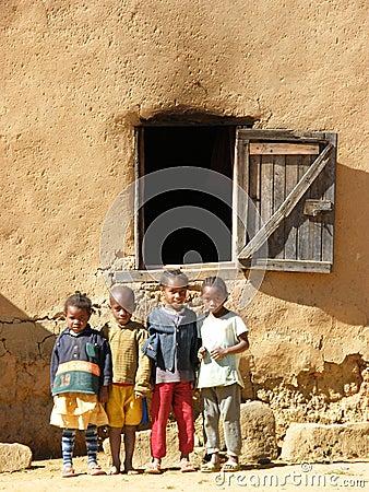 Native Malagasy Children Editorial Photo