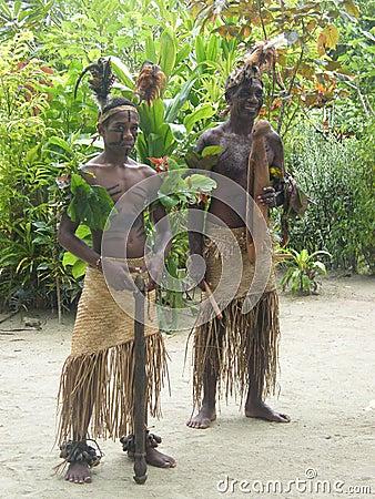 Native people in Vanuatu Editorial Stock Photo