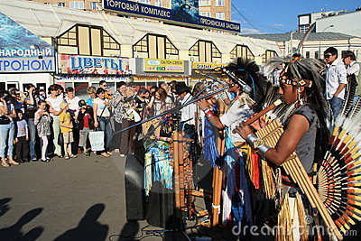 Native South American music Editorial Stock Photo