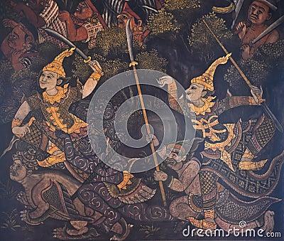 Native Thai mural