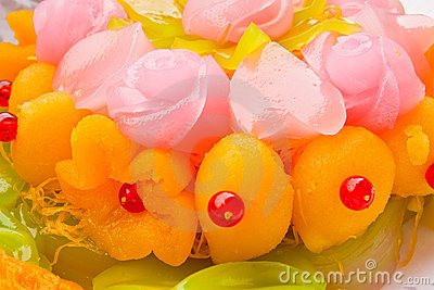 Native Thai style colorful dessert