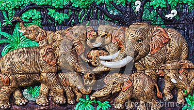 Native Thai style molding art