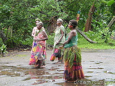 Native women in Vanuatu Editorial Stock Image