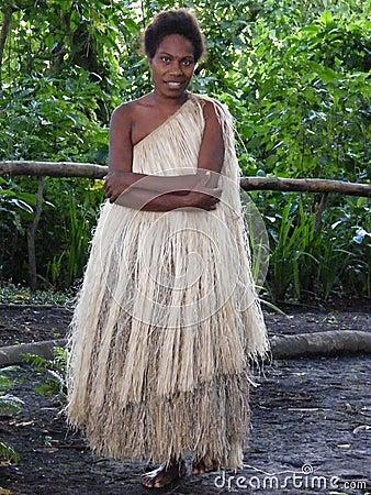 Native young girl of Vanuatu Editorial Stock Image