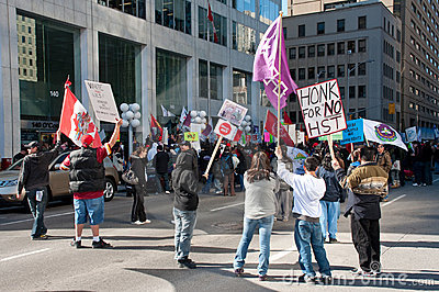 Natives protest HST in Ottawa Editorial Stock Image