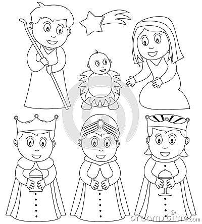 Natividad de la Navidad del colorante