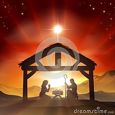 Free Nativity Christian Christmas Scene Stock Photo - 32377220