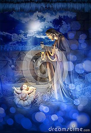 Free Nativity Christmas Jesus Birth Stock Images - 34585674