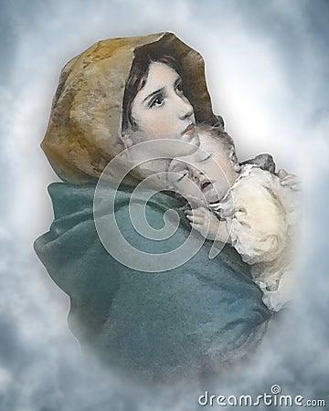 Free Nativity Christmas Madonna Stock Photos - 33012533
