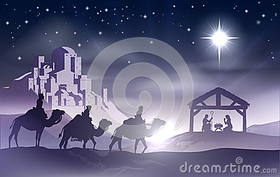 Nativity Christmas Scene Royalty Free Stock Image Image