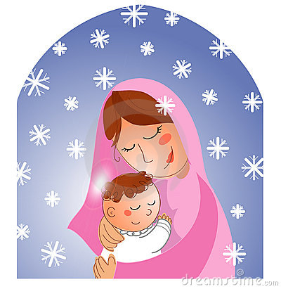 Nativity: Mary and baby Jesus