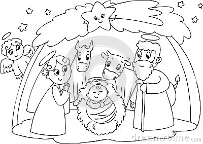 Nativity: Mary Joseph And Jesus Royalty Free Stock Photography - Image ...
