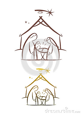 Nativity Scene: Father, mother and child