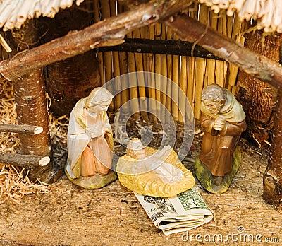 Nativity Scene with Money